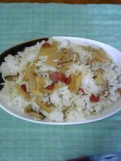 中華風タケノコ混ぜご飯