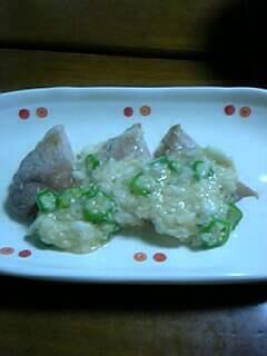 トンテキの長芋ソース