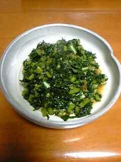 大根菜の炒め煮