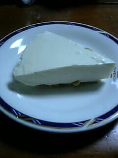 昨日作ったレアチーズケーキ