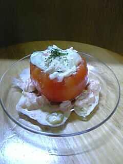 トマトのカップツナサラダ