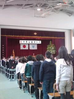 長男の卒業式